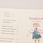"""pagina indice del libro 'Nicolas cocina sin fuego"""""""