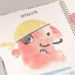"""Detalle del libro """"+ Caras"""". [Descripción de imagen] El rostro de un pirata"""