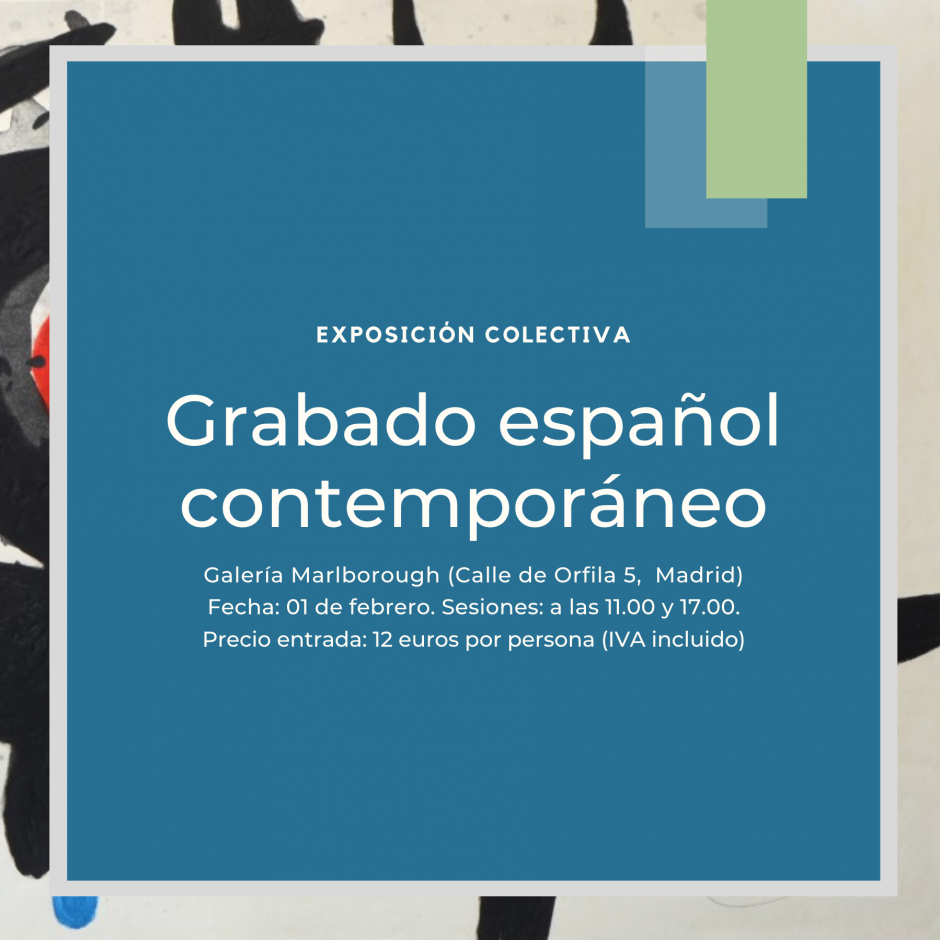 """Entrada para el evento """"Grabado español contemporáneo"""""""