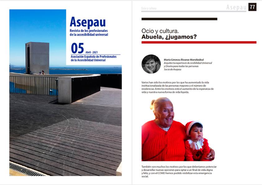 Portada de ASEPAU Abril + Portada de Artículo. En portada, fotografía del acceso desde el nivel superior al ascensor situado en Dos Penedos da India, Sines, Portugal.