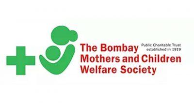 """Logotipo de  """"Sociedad de bienestar de madres y niños de Bombay""""."""