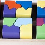 Detalle de 8 piezas del puzzle 6x4 en acabado color